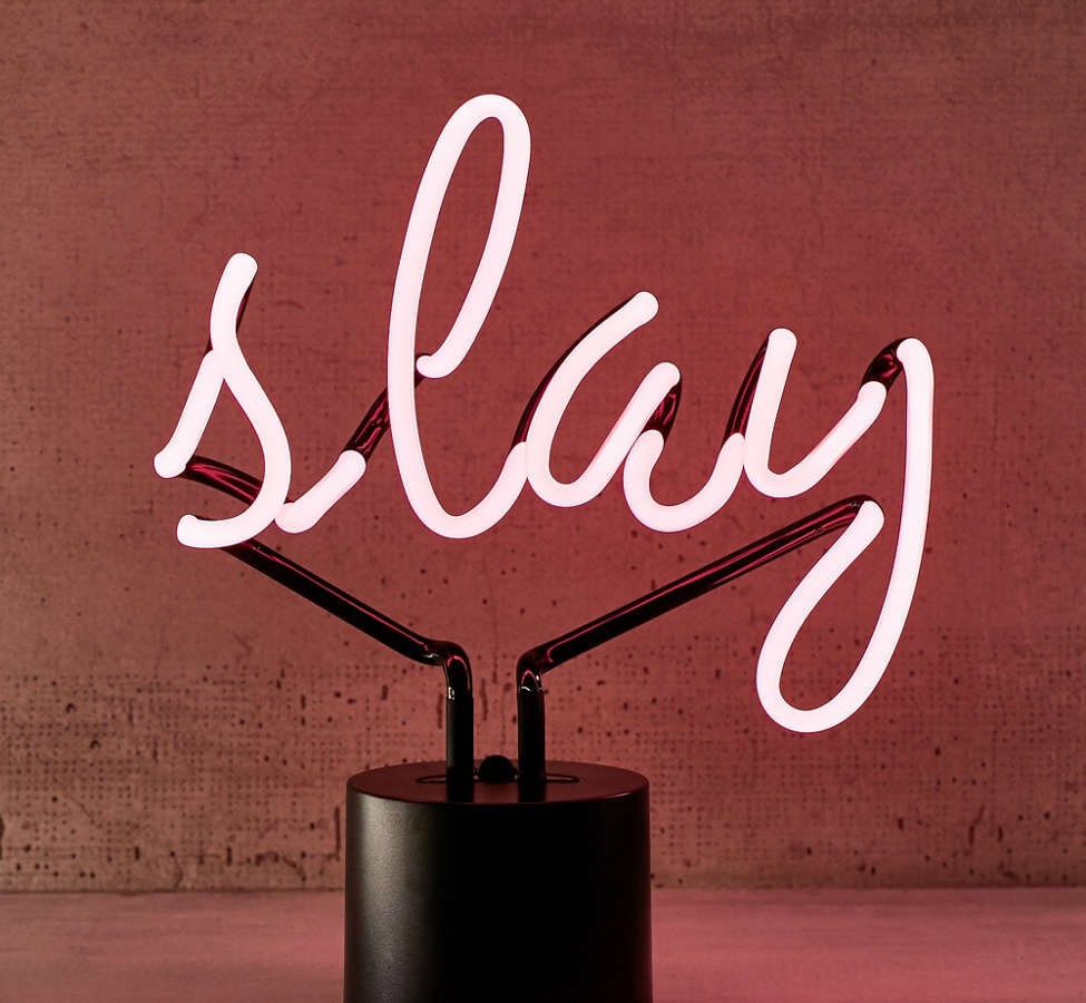 Slide View: 2: Slay Neon Sign Table Lamp