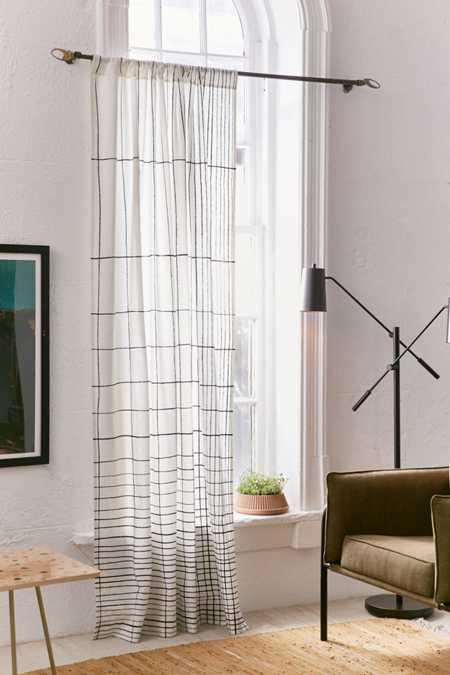 Gradient Grid Window Curtain