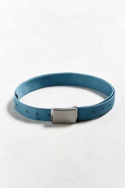 Stussy Small Logo Web Belt - Blue One Size at Urban Outfitters
