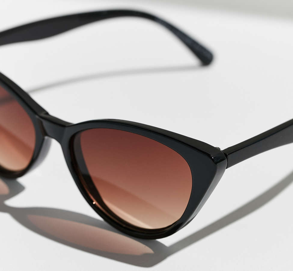 Slide View: 4: Slim Retro Cat-Eye Sunglasses