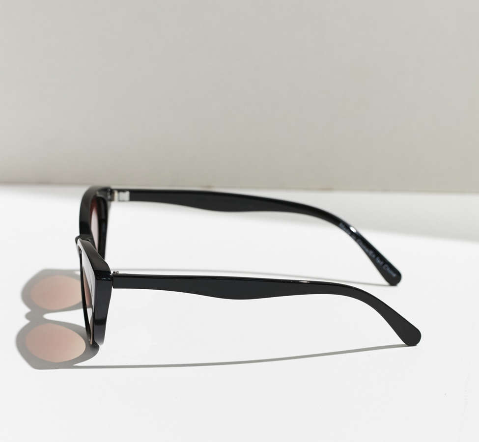 Slide View: 5: Slim Retro Cat-Eye Sunglasses