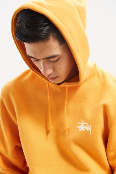 Stussy Basic Logo Hoodie Sweatshirt - Orange S at Urban Outfitters