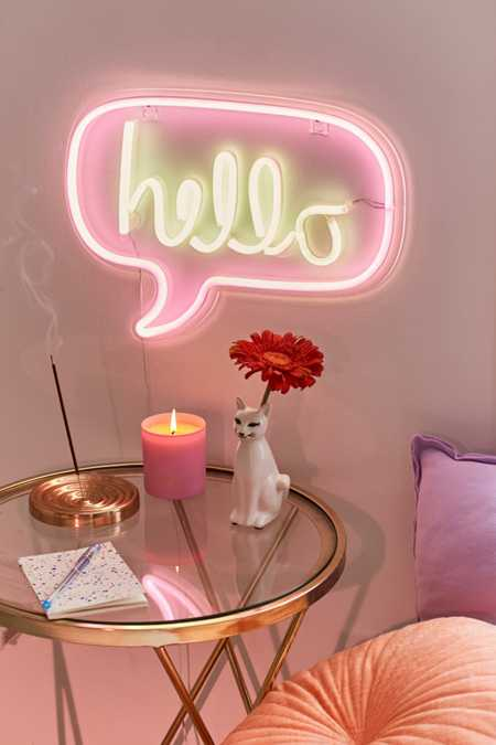 Hello Neon Sign. Lamps   Home Lighting   Urban Outfitters