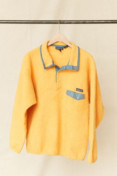 Vintage Patagonia Yellow Fleece Pullover Jacket