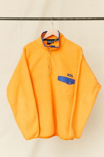 Vintage Patagonia Orange Fleece Pullover Jacket