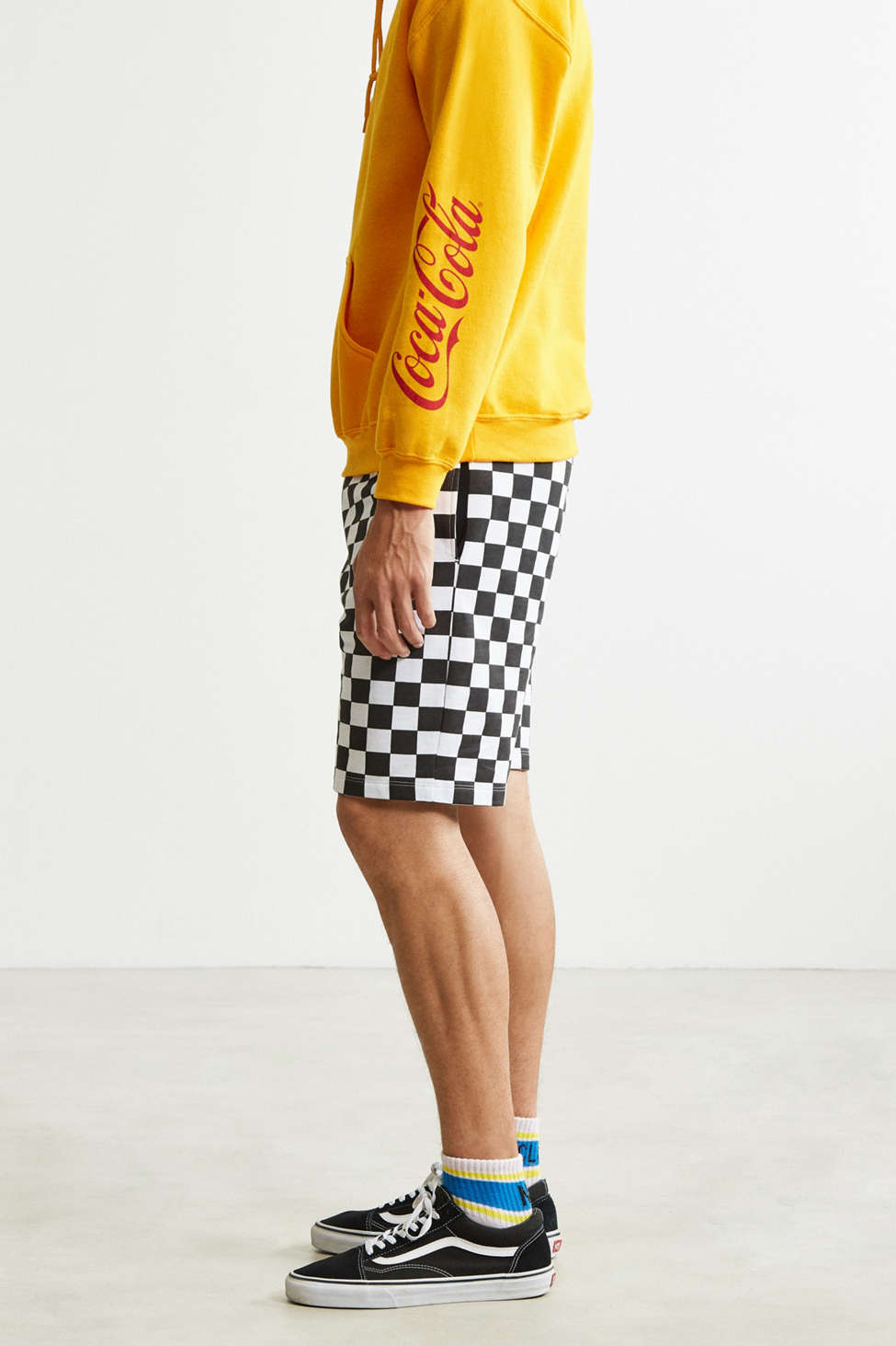 Uo Checkered Knit Short Urban Outfitters