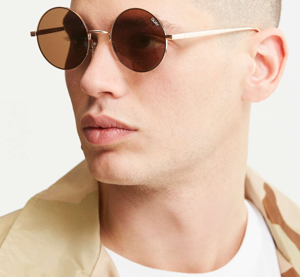 Slide View: 2: Quay Electric Dreams Round Sunglasses