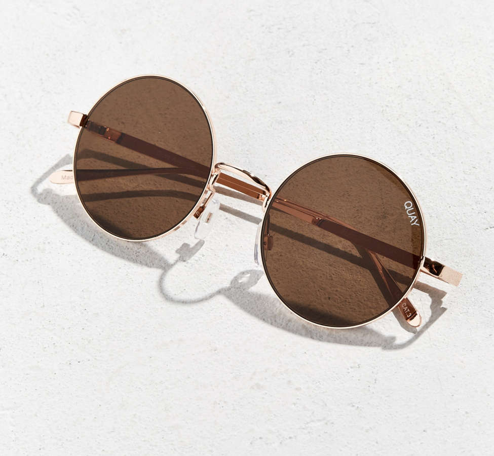Slide View: 5: Quay Electric Dreams Round Sunglasses