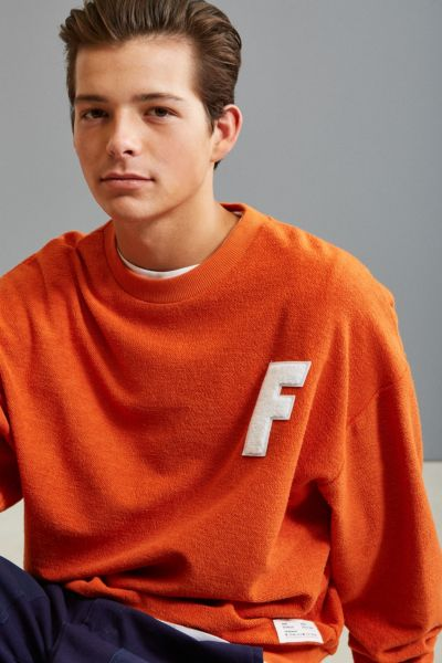 FairPlay Morrison Crew Neck Sweatshirt - Orange S at Urban Outfitters