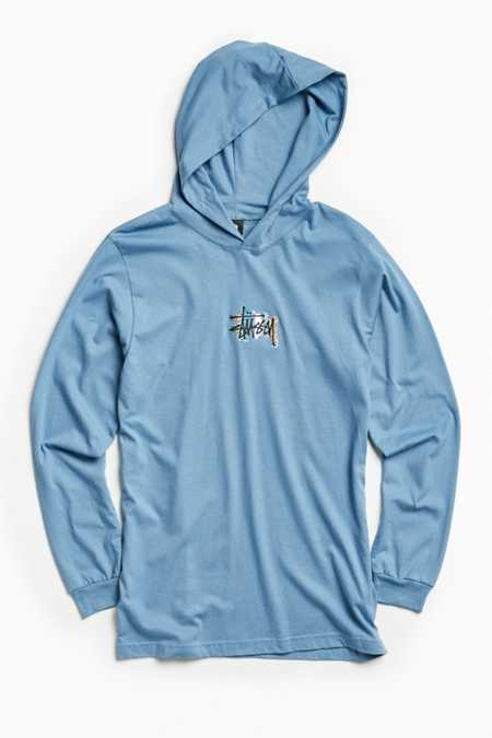 Stussy Prism Logo Hooded Long Sleeve Tee