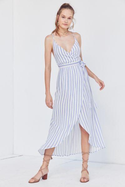 Cooperative Striped Maxi Wrap Dress
