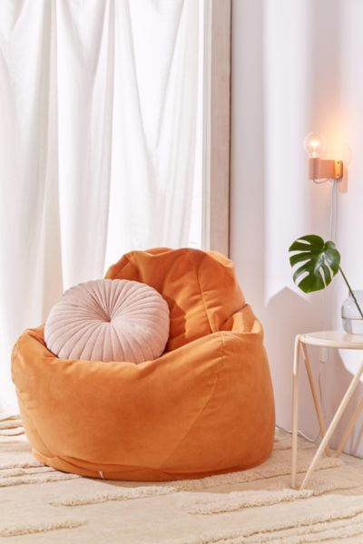 Noah Velvet Lounge Chair - Orange One Size at Urban Outfitters