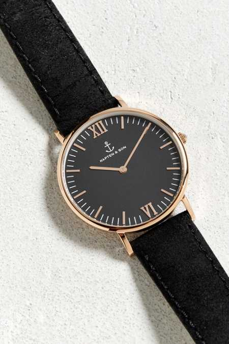 Kapten & Son Campus Leather Strap Watch