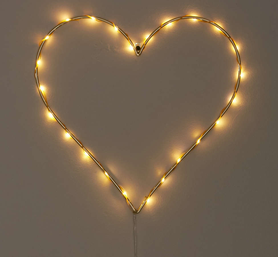 Slide View: 3: Heart Light Sculpture