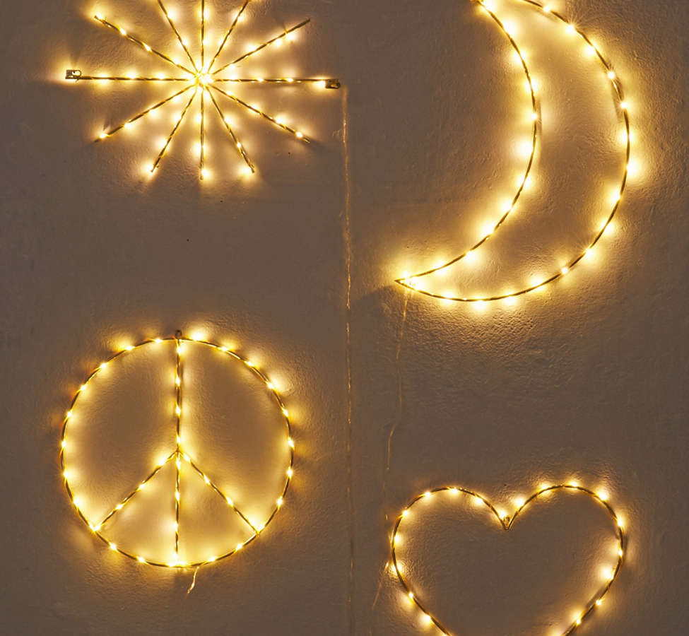 Slide View: 4: Peace Sign Light Sculpture