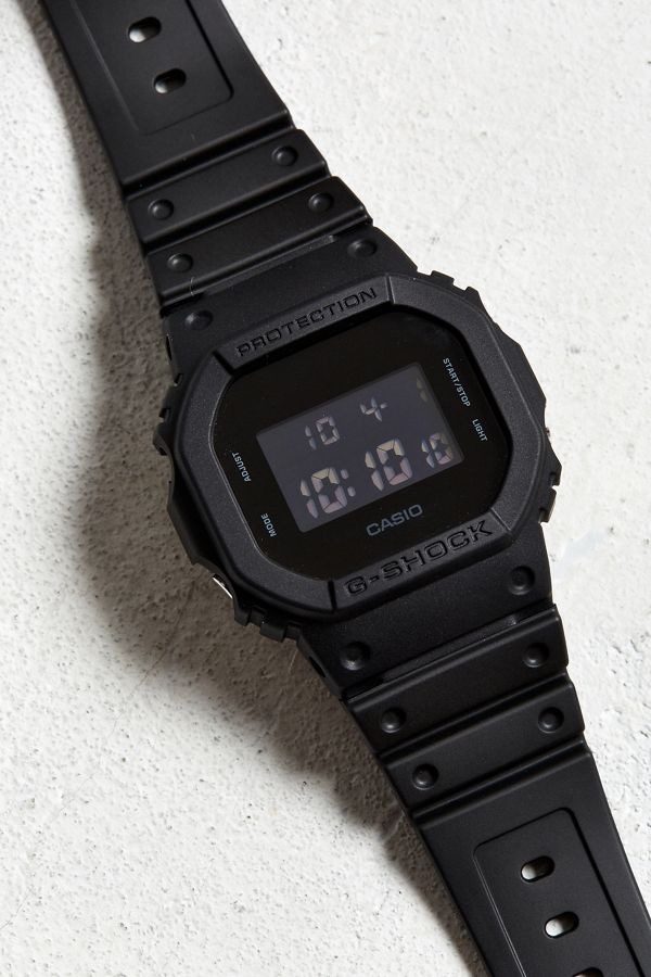 casio gshock black out basic watch urban outfitters