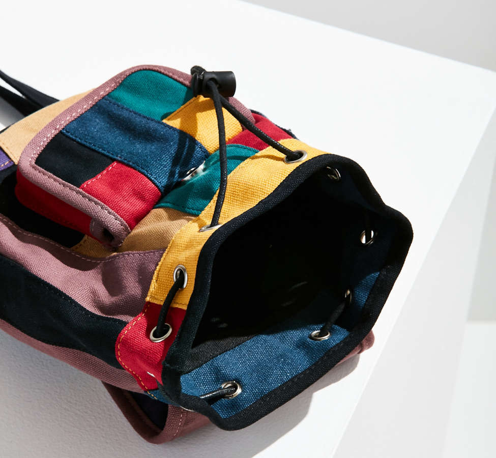 Slide View: 2: Mini Canvas Patchwork Backpack
