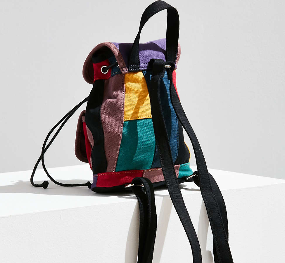 Slide View: 5: Mini Canvas Patchwork Backpack