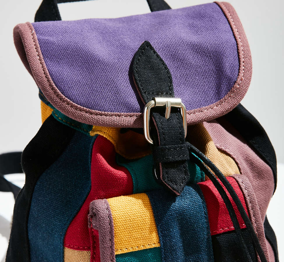 Slide View: 6: Mini Canvas Patchwork Backpack