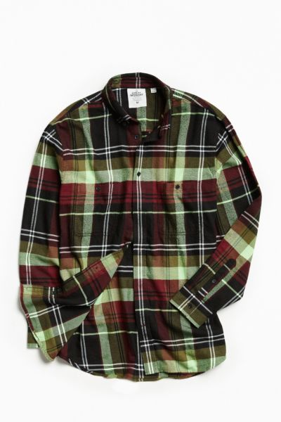 Cheap Monday Conduct Flannel Button-Down Shirt - Black S at Urban Outfitters