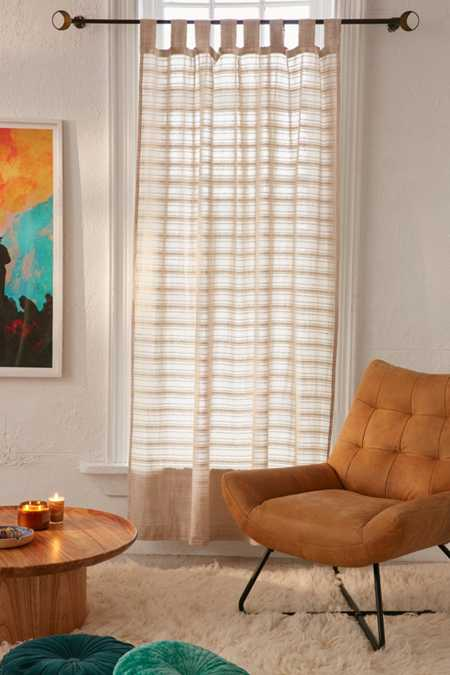 Radiant Stripe Woven Window Curtain