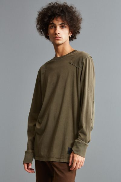 Cheap Monday Yard Long Sleeve Tee - Dark Green S at Urban Outfitters