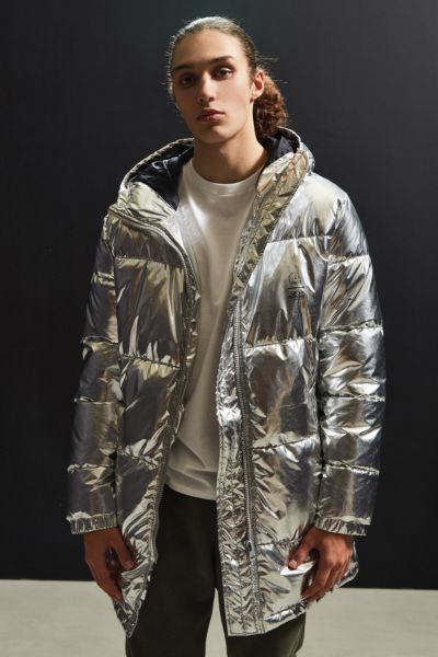 Cheap Monday Metallic Puffer Jacket - Silver S at Urban Outfitters