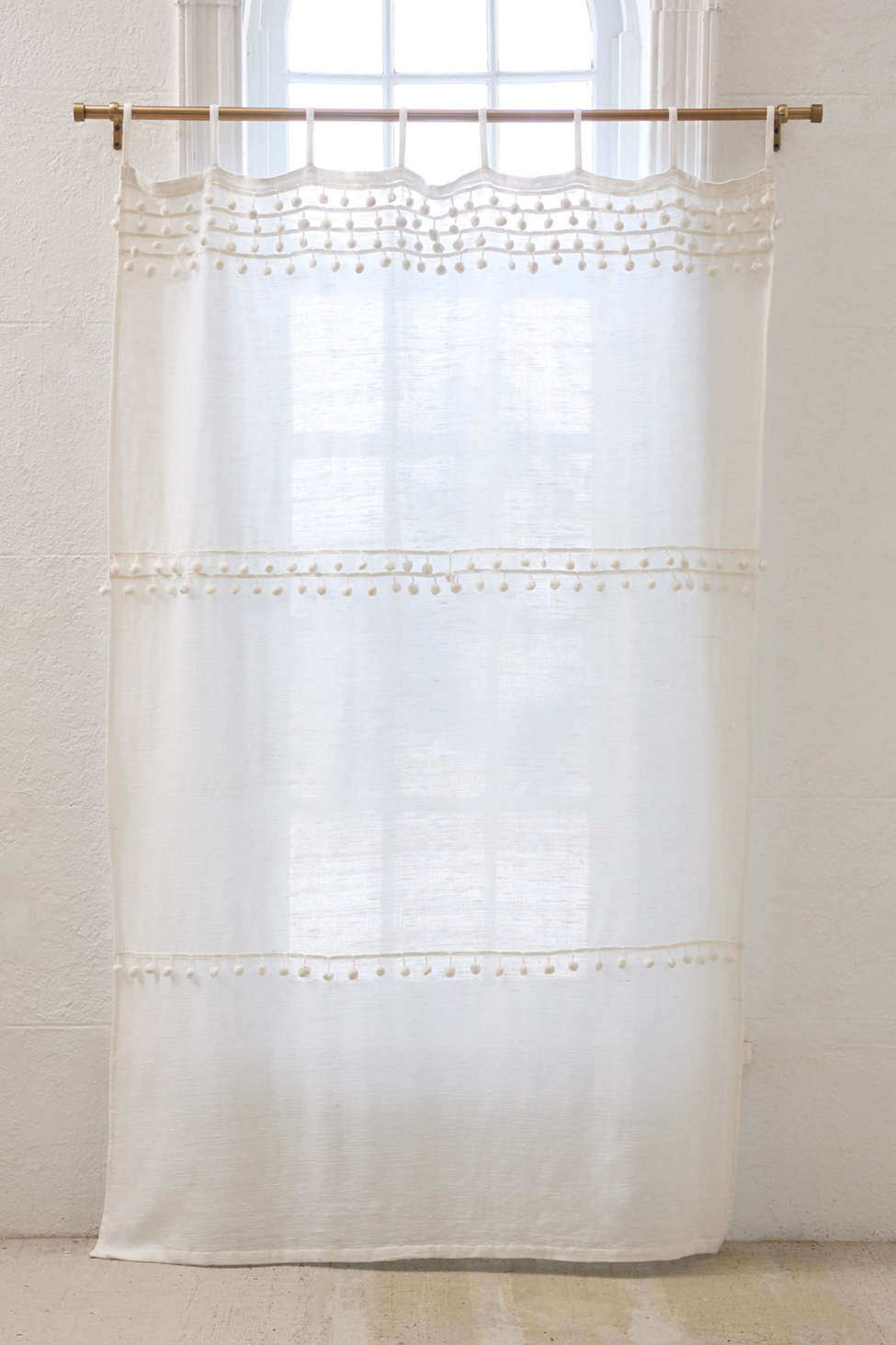 Averi Pompom Gauze Window Curtain Urban Outfitters Canada