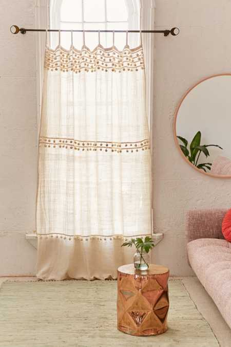Averi Pompom Gauze Window Curtain