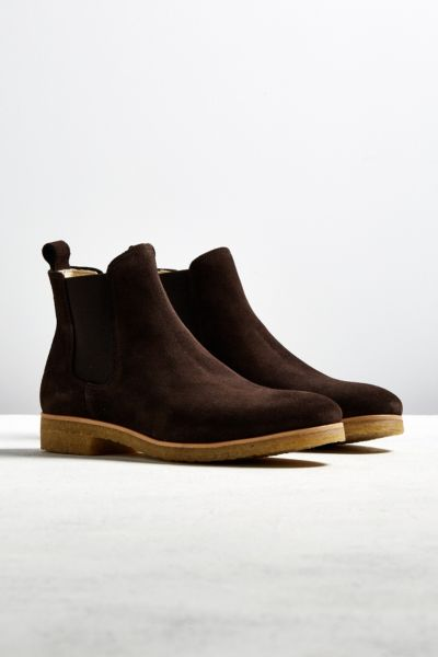 Shoe the Bear Suede Double Crepe Chelsea Boot - Brown Multi 41 EURO at Urban Outfitters