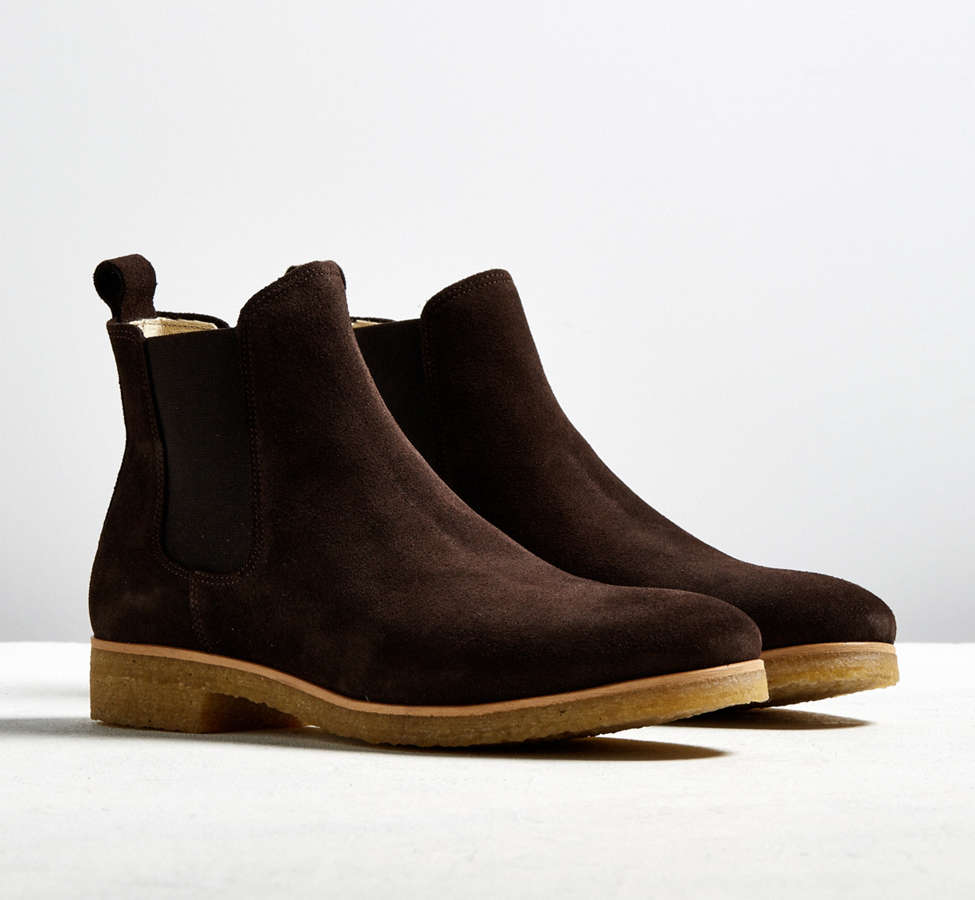 Slide View: 1: Shoe the Bear Suede Double Crepe Chelsea Boot