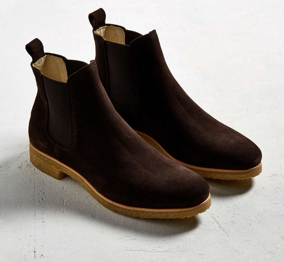 Slide View: 2: Shoe the Bear Suede Double Crepe Chelsea Boot