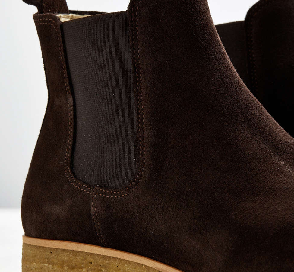Slide View: 4: Shoe the Bear Suede Double Crepe Chelsea Boot