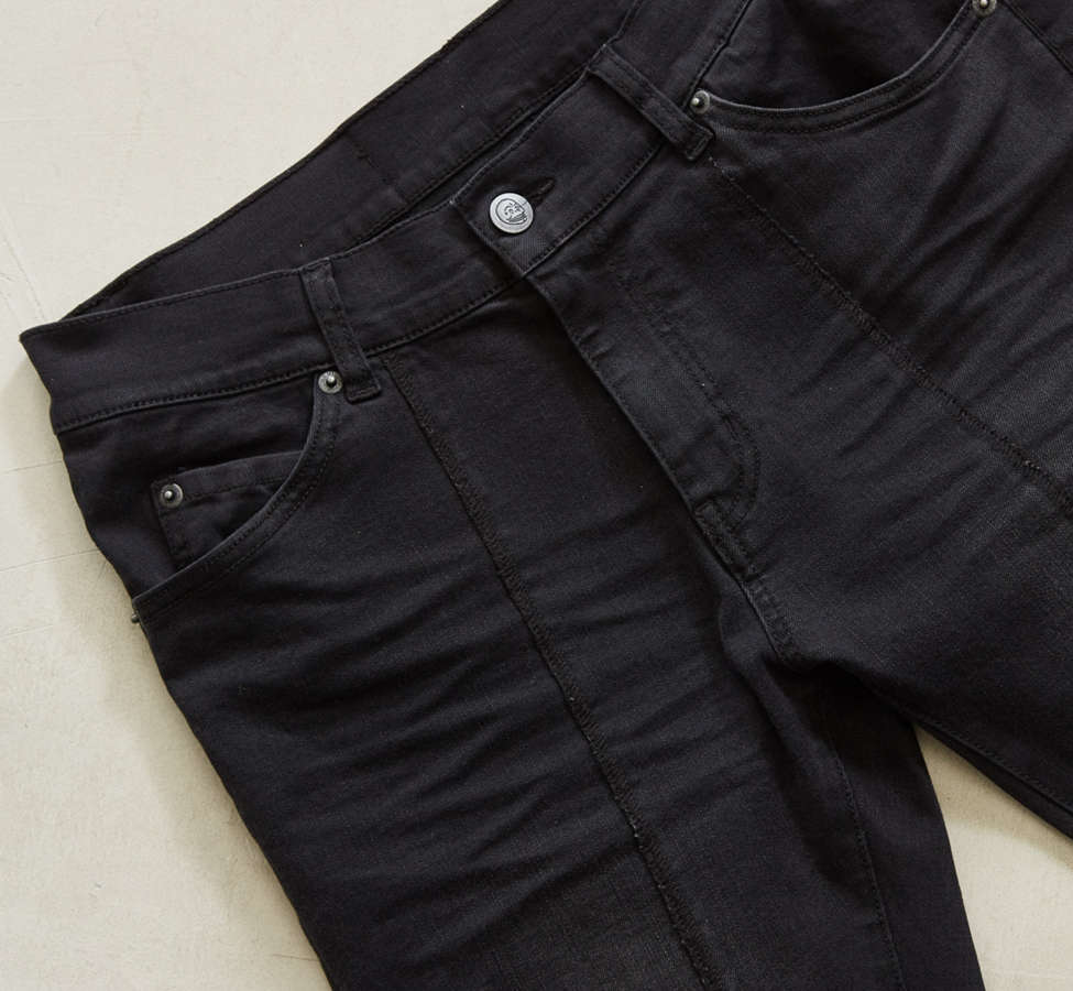 Slide View: 2: Cheap Monday Tight Twisted Black Pieced Skinny Jean