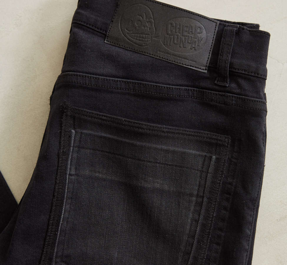Slide View: 5: Cheap Monday Tight Twisted Black Pieced Skinny Jean