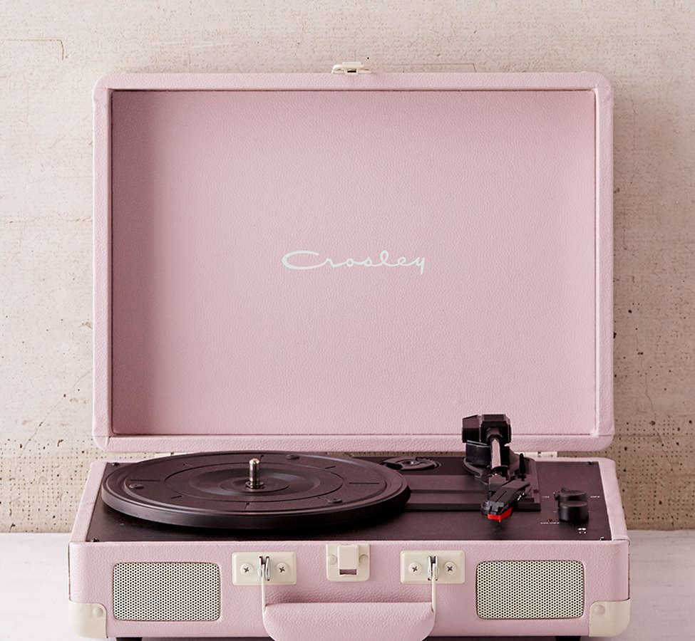 Slide View: 1: Crosley Lilac Cruiser Bluetooth Record Player