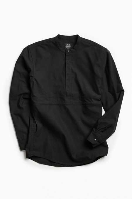 Publish Kelton Band Collar Popover Shirt