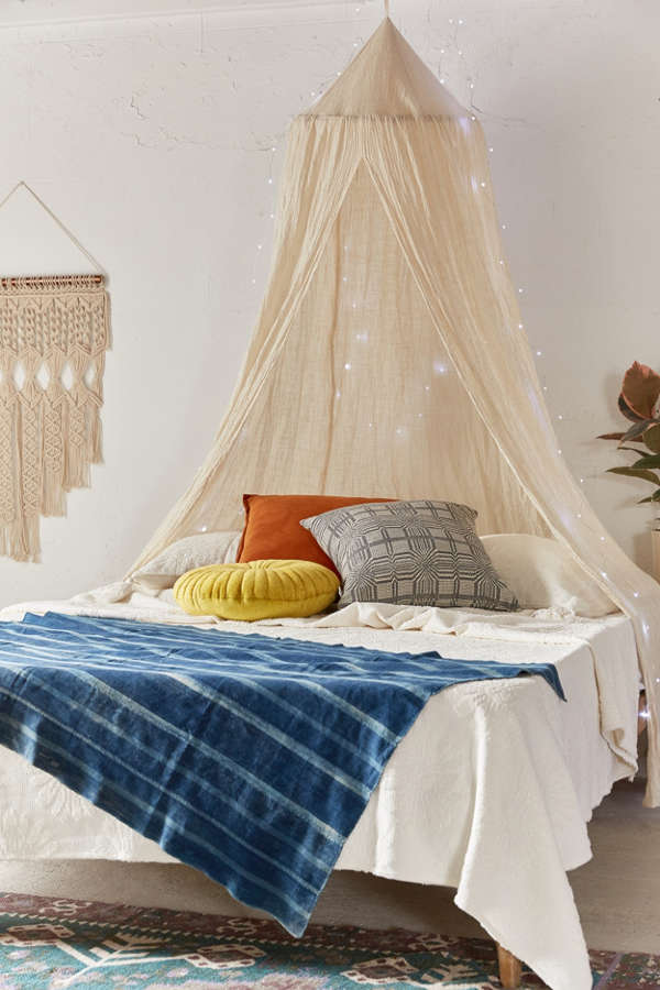 Slide View: 1: Chloe Gauze Bed Canopy