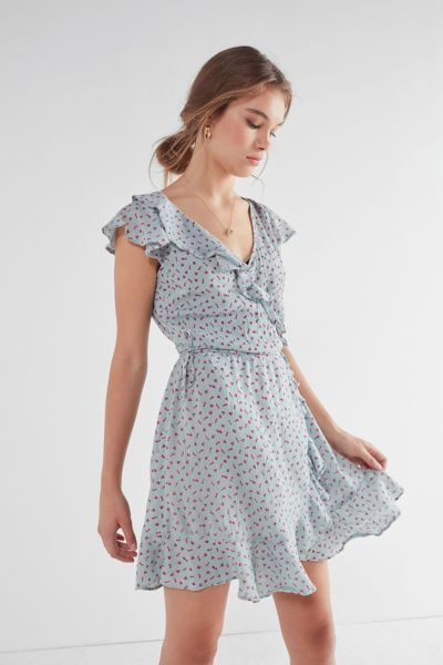 Pins And Needles Ruffle Wrap Dress