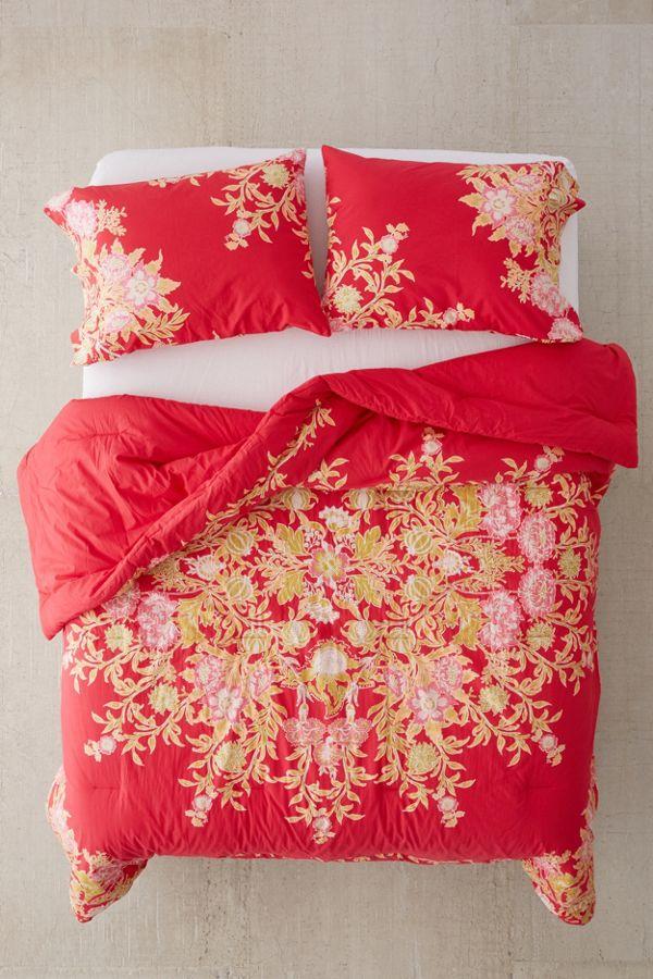 bedding bed medallion cotton bookmark htm modern blue floral tapestry green