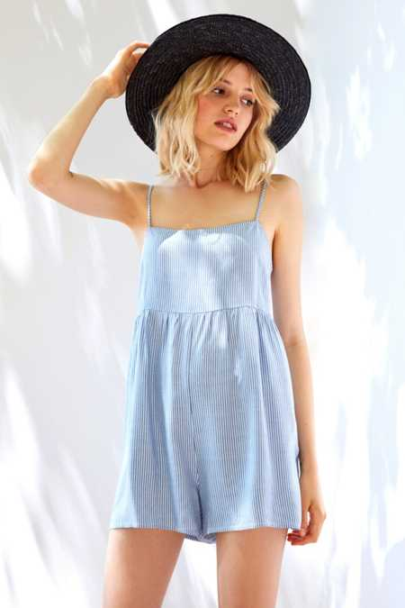 Cooperative Straight-Neck Striped Romper