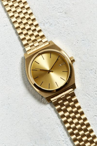 Nixon Time Teller Watch - Gold One Size at Urban Outfitters