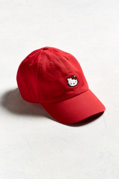 Hello Kitty Dad Hat - Red One Size at Urban Outfitters