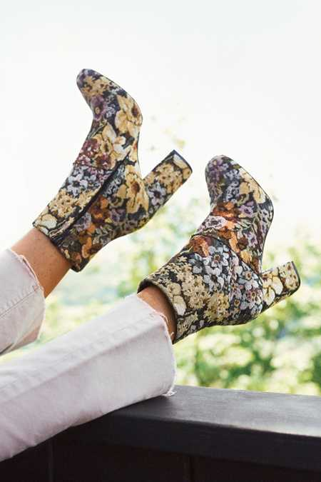 Emma Floral Jacquard Ankle Boot