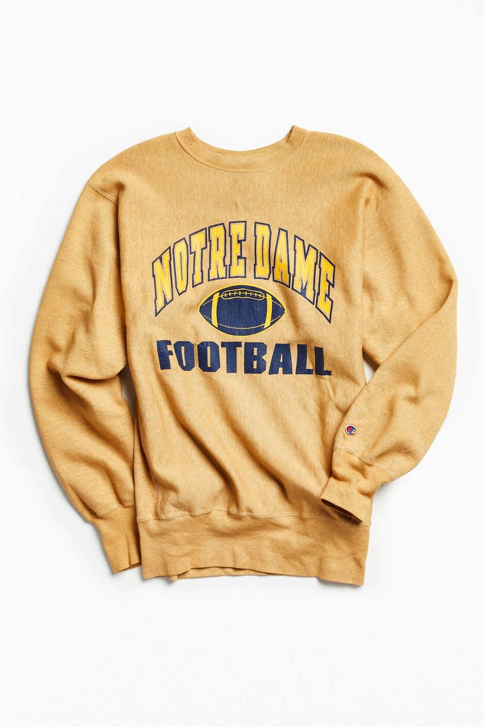 Vintage Notre Dame Crew Neck Sweatshirt Urban Outfitters