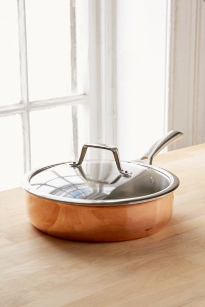 Berke Saute Pan With Lid - Copper One Size at Urban Outfitters