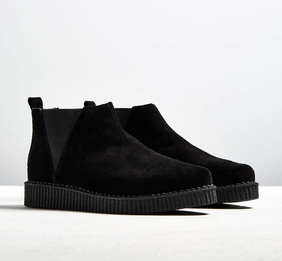 Slide View: 1: T.U.K. Suede Chelsea Creeper Boot