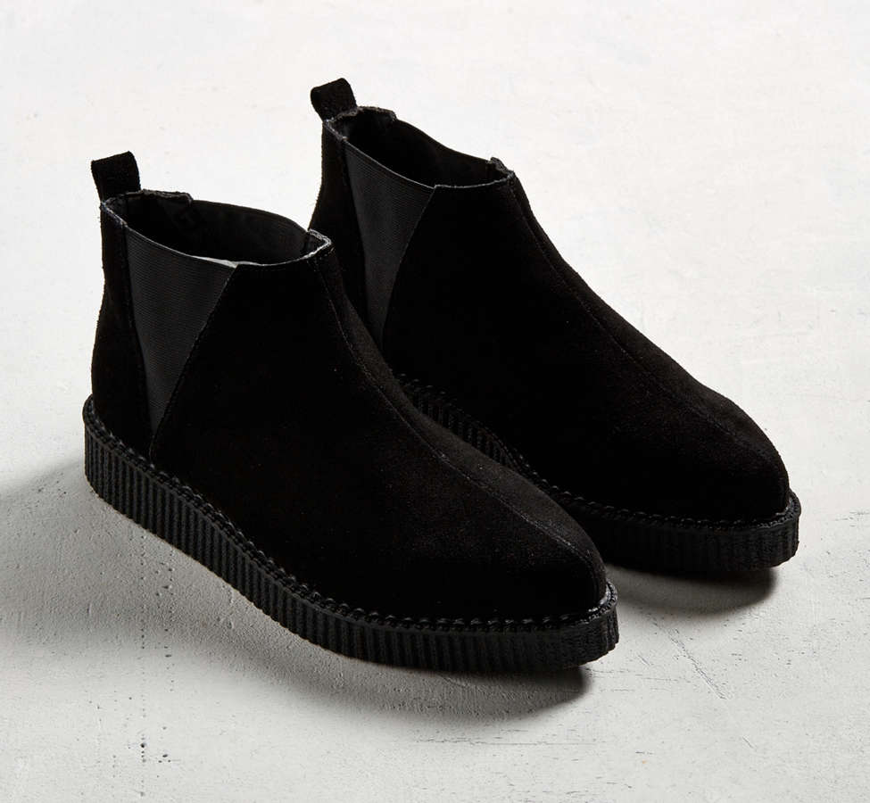 Slide View: 2: T.U.K. Suede Chelsea Creeper Boot