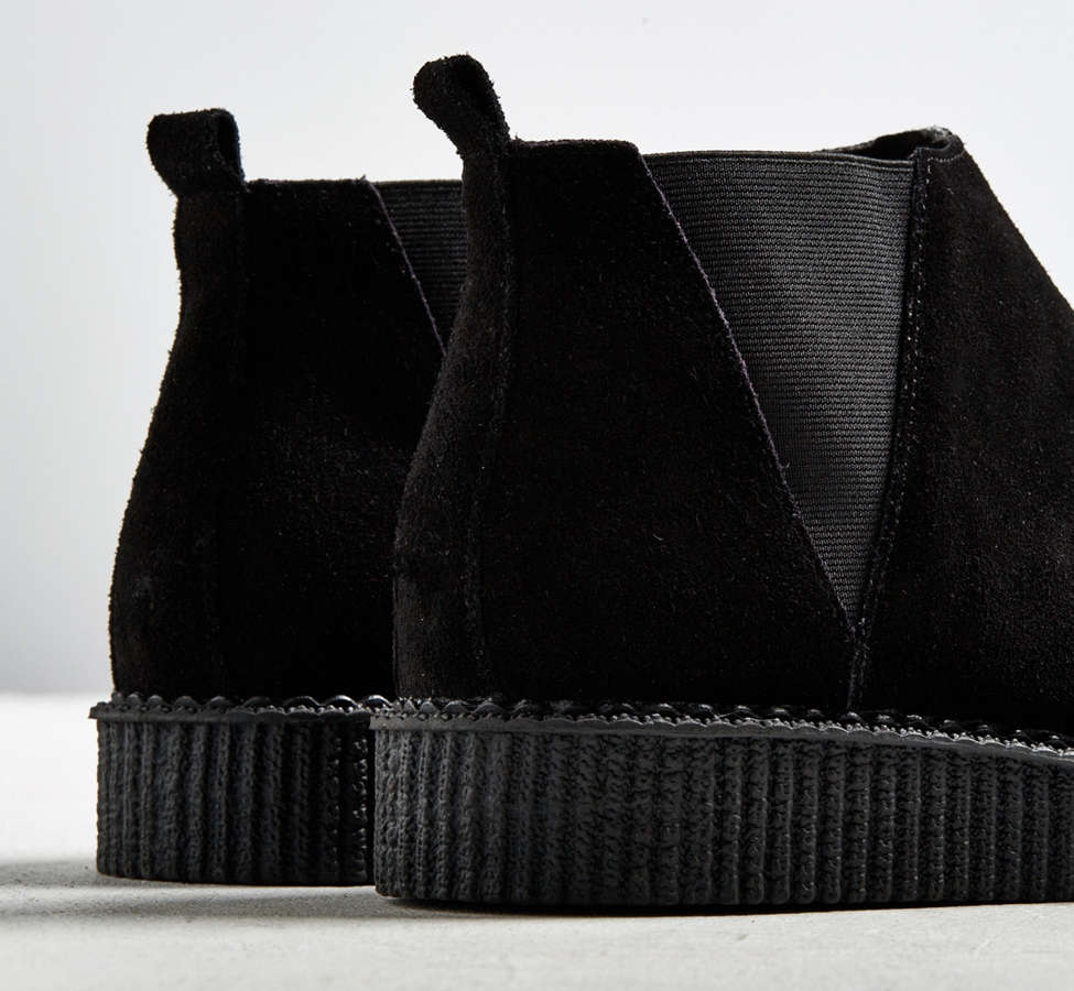 Slide View: 4: T.U.K. Suede Chelsea Creeper Boot
