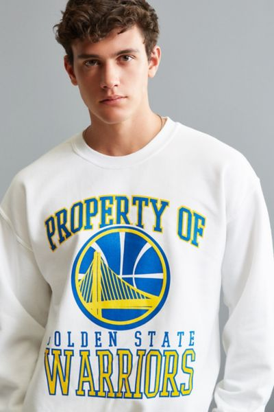 Golden State Warriors Crew Neck Sweatshirt - White M at Urban Outfitters